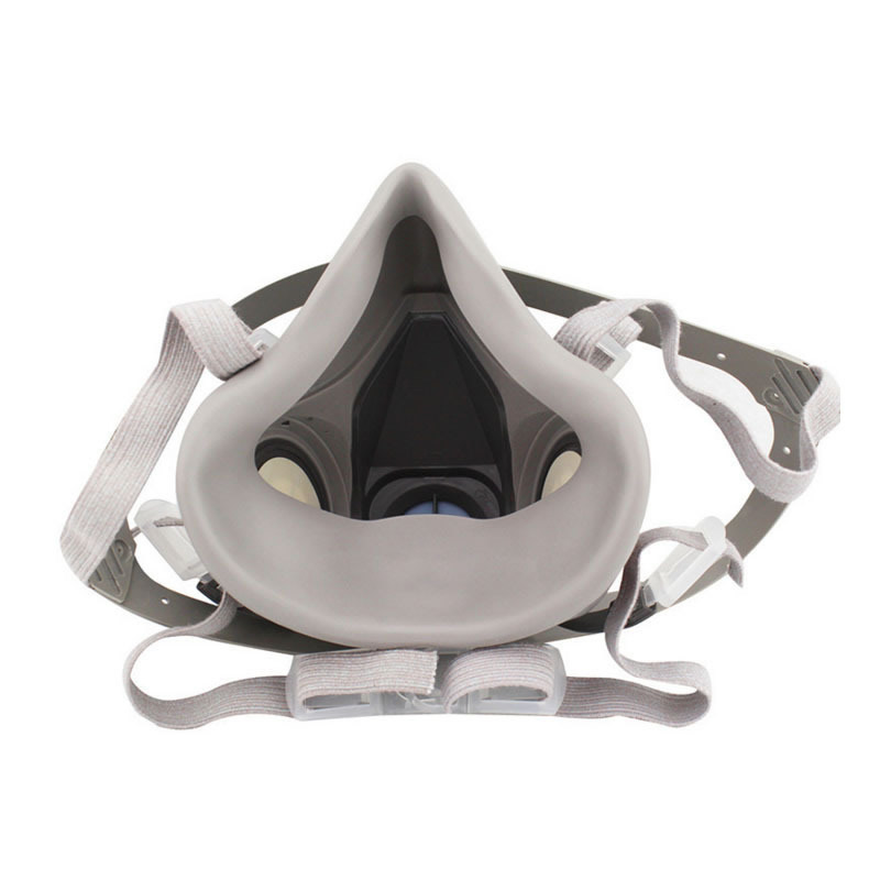 New 7-In-1 6200 Dust Gas Respirator Half Face Dust Mask For Painting Spraying Organic Vapor Chemical Gas Filter Work Safety