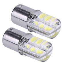 2pcs Car 1156 Ba15s p21w Led Parking Lamp Ba15s 1156 5050 SMD Red Brake Turn Signal Light Led Bulb Crystal Auto Styling