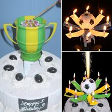Automatic Flowering Music Candle Bracket Birthday Gift Candle Holder Football Cup Candle Holder