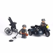 City Block Mini Military WW2 German Waffen SS US Soldiers Battle Soviet Red Army Building Block Action Figure Toys for children(China)
