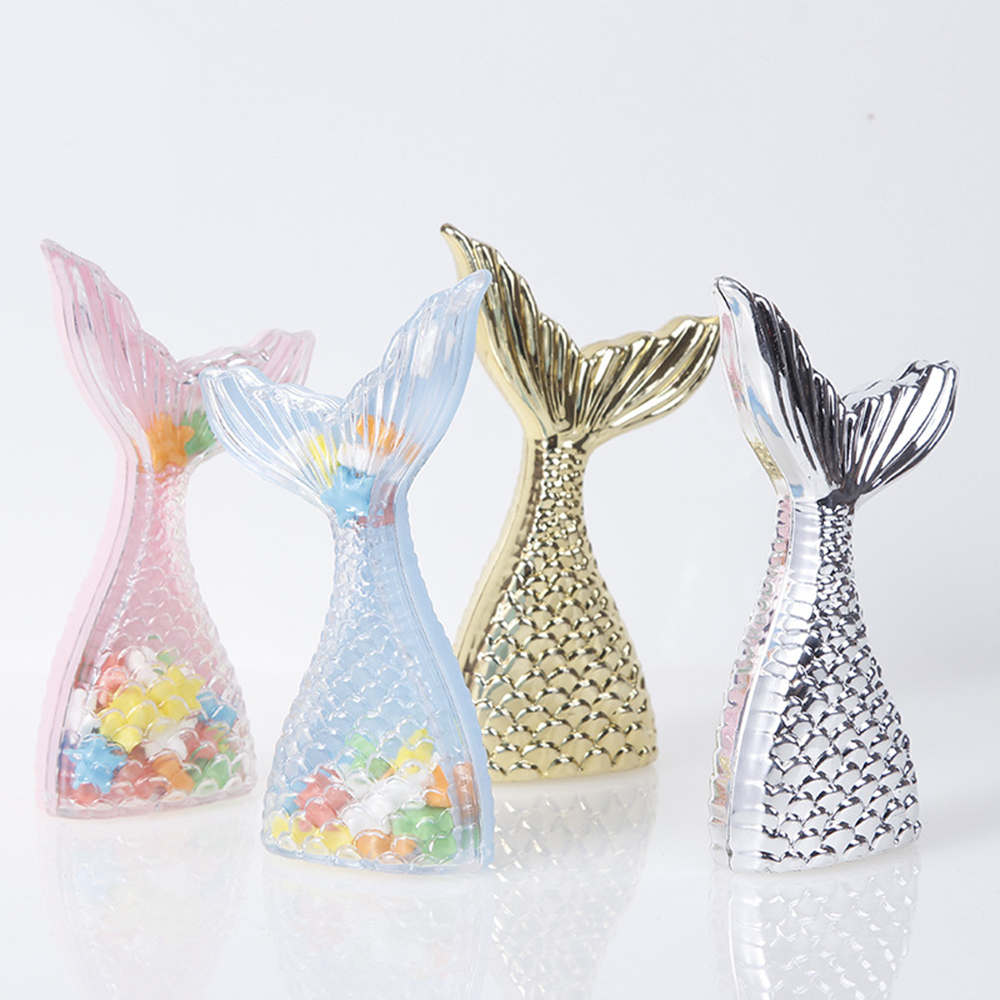 Bag Gift-Bag Mermaid-Favor-Bag Candy-Boxes Party-Supplies Birthday-Gifts Creative 12pcs title=