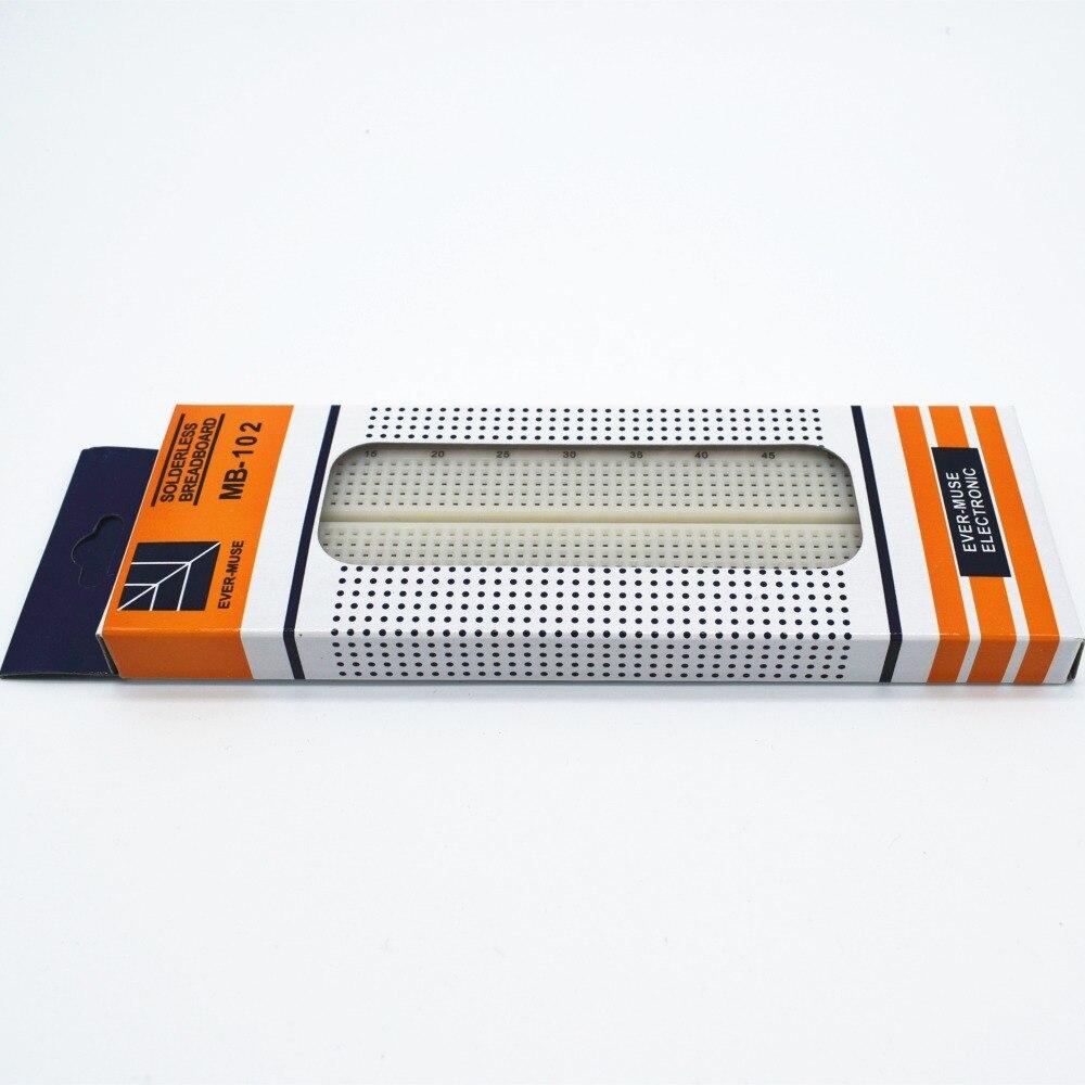 100pcs/lot Breadboard 830 Point Solderless PCB Bread Board MB-102 MB102 Test Develop DIY 1