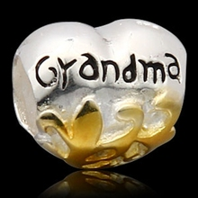 Grandma Charms Original 100% Authentic 925 Sterling Silver Beads fit for Pandora bracelets & Necklaces