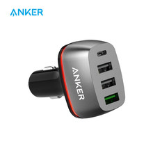 Anker Quick Charge 3.0 & USB Type-C 54W 4-Port USB Car Charger, PowerDrive+ 4 for Sumsung Galaxy and PowerIQ for iPhone iPad LG(China)
