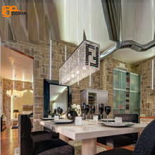 New rectangular dinning room crystal pendant lights modern lighting