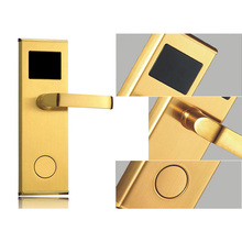 Keyless Smart RFID Card Door Lock Access Control Automatic Door Operators with Door Handles Home Security Hotel Door Locks
