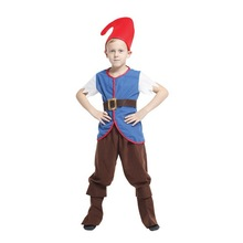 M-XL Fantasia Boys Kids Movie anime Snow White and Seven Dwarfs Cosplay Disfraces Clown Costume Halloween Costumes for Children