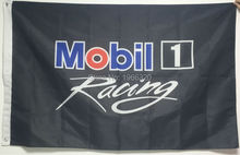 Black Mobil 1 One Racing Flag Garage Sign Banner Automotive Auto F1 NASCAR Race Flag 3X5