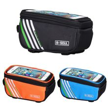 3 Colors Bicycle Bag Frame Front Head Top Tube Waterproof Touchscreen Bike Bag For Cycling