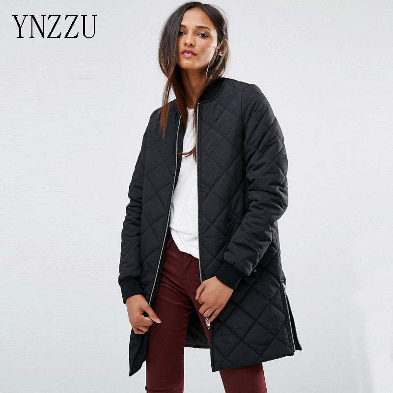 YNZZU  New Spring Warm Cotton Clothing Cotton padded Coat Womens Clothing Army Green Long Sleeve Coat Jacket Windbreaker YO066Îäåæäà è àêñåññóàðû<br><br>