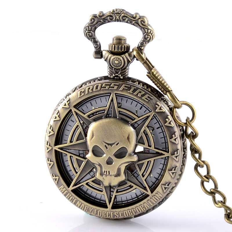 Steampunk Cross Fire Skull Skeleton Pocket Fob Watches Men Women Mechanical Watch With Chain Vintage Retro Sport Clock Gifts<br><br>Aliexpress