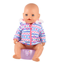Fast Delivery 2017 Summer High Custom New Fashion New Baby Born 43cm Zapf Doll Clothes Snow Bright Coat Children Best Gift ZD581(China)
