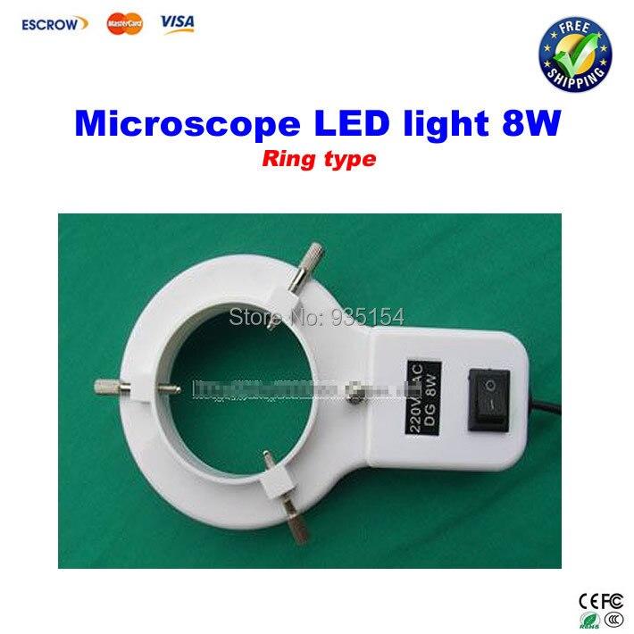 8W Ring type LED light Microscope Lamp Fluorescent Tube Annular tubes Ring Adjustable LED Lamp light<br><br>Aliexpress