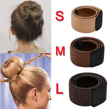 Girls French Magic Hair Bun Maker Donut Styling Hair Fold Wrap Snap Accessories for Women or Kids Curler Roller Dish Headbands