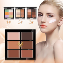 50Pcs/lot HUAMIANLI 6 Colors Concealer Hide Blemish Acne Makeup Face Contour Palette Waterproof Highlighter Cream Face Cosmetics(China)