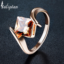 Iutopian Brand Fashion Rings For Women With Top Quality Brown Crystal  Environmental Metal #UR419
