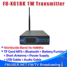 Freeshipping FMUSER FU-X01BK 1W FM Broadcast Transmitter Intermediate MP3+Bluetooth+Battery Function(China)