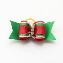 Armi store Handmade Designer Accessories Rhinestone Dogs Christmas Ribbon Bows Dog Bow 6025020 Pet Design supplies.