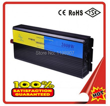 Hot sale 2000 watt DC 12V to AC 220V 2000w max 4000w pure sine wave power inverters converters DHL FEDEX FREE SHIPING