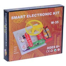 Smart electronic kit snap learning educational appliance toys,DIY building blocks models electronic 35 projects,kid create toy