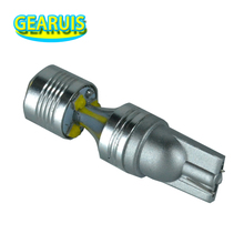 100pcs High power T10 30W 6 smd 5W LED 2 Floor lens spot 194 168 W5W 6SMD Car Auto License Plate Wedge Light Bulb Lamp White 12V(China)