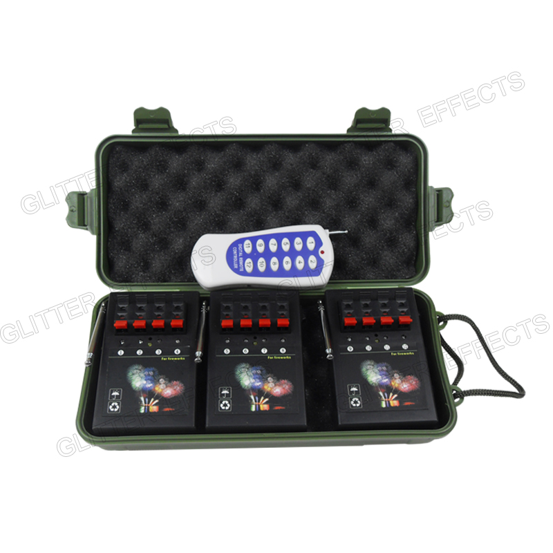 3 Receivers 4 Cues 12 channel remote AM04R-3 Stage wedding equipment trigger wireless switch led cold fire<br>