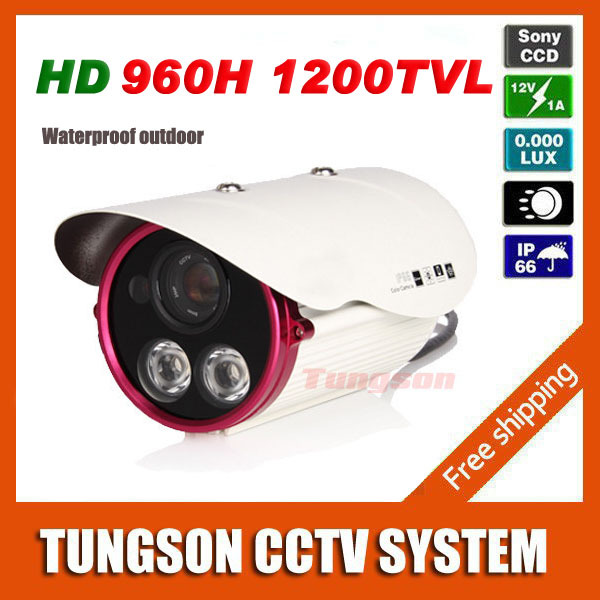 Sony CCD 960H Effio 1200TVL Vandal-proof OSD 2* Array Bullet Outdoor Waterproof Night Vision Video CCTV Camera Security<br>