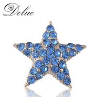 Five - pointed star brooch Crystal- studded Brooch fashion jewelry for Women