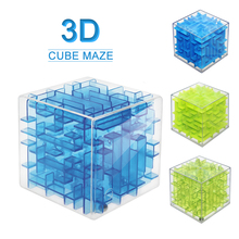 3D Mini Maze Magic Cube Puzzle Speed Cube Puzzle Game Labyrinth Rolling Ball Toys Cubos Magicos Learning Educational Toy Gifts(China)
