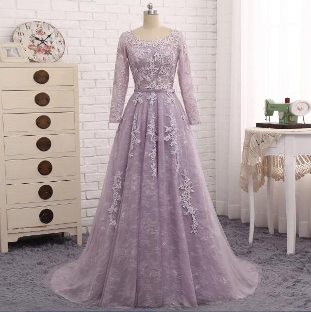 Light Purple Evening Dress  Formal Party Gown