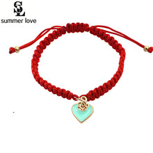 Buy Wholesale Heart Love Bracelet Bangle Red Lucky Rope Cord String Fashion Hand Bracelet Women Love Heart for $1.00 in AliExpress store