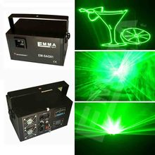 3d green laser 1w dj lights dmx+ilda+sd+2d+3d sinlge color 1w green color laser