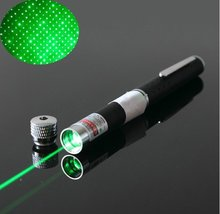 free shipping OXLasers OX-G052 2 in 1  50mW green laser pointer pen with star cap head and gift box VISIBLE BEAM