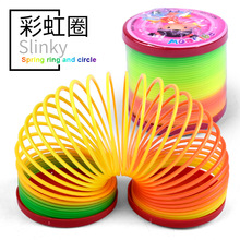 Kids Toy Plastic Slinky Rainbow Spring Colorful Funny Classic Toy For Children Gift Practical  Interesting Novelty Gadgets Toys