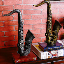 3D Miniature Musical Instruments DIY Craft Vintage Cube Horn Trumpet Models Musical Instrument Resin Model Gift(China)
