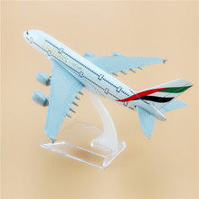 Alloy Metal Air Emirates A380 Airlines Airplane Model Airbus 380 Airways Plane Model Stand Aircraft for Baby Gifts Toys 16cm(China)