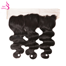 Real Beauty Body Wave Ear To Ear Lace Frontal 13X4 Brazilian Remy Human Hair Closure Bleach Knots Natural Color