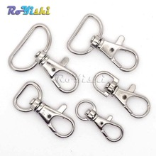 Matel Snap Hooks Rotary Swivel For Backpack Nickel Plated Lobster Clasps(China)