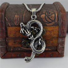 Nation Wind China Dragon Necklace Titanium Casting Restore Ancient Ways The Zodiac Dragon Man Women's Birthday Gift