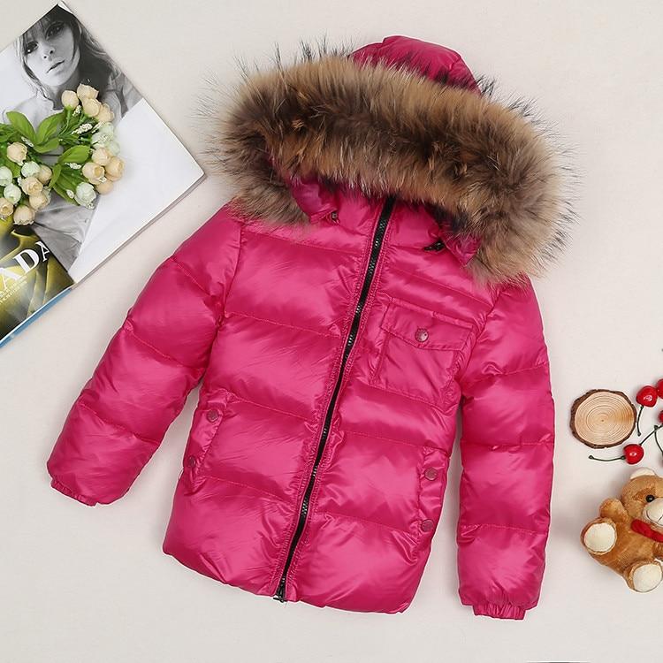 -30 degree Children boy girl winter down jackets coats top quality detachable real fur hooded  Warm ski Coats  snow coat jacket<br><br>Aliexpress