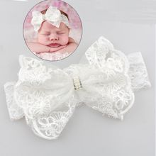 Buy New Hair Accessories Girls Turban Headwear Baby Headband Bow Pearl Lace Hair Band Headband White Solid Lovely Band for $1.11 in AliExpress store