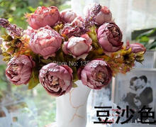 Flower Vintage Noble Large Peony Bouquet Home Coffee Table Room Office Hotel Store Decorations Artificial Flowers