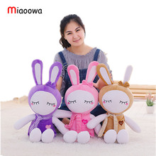 Miaoowa 55cm Kawaii Rabbit with Scarf Plush Toys Stuffed Lovely Animal Doll Pillow Baby Kids Sleeping Toy Valentines Gift