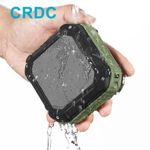 New arrival on Sale! CRDC 4.0 Bluetooth Speaker Subwoofer With CSR Chip Powerful IP65 Waterproof Mini Portable Wireless Speakers(China)