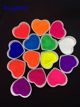 mix color fluorescent powder, fluorescent pigment samples color:pink,orange,purple,blue,yellow,red,etc..(China)
