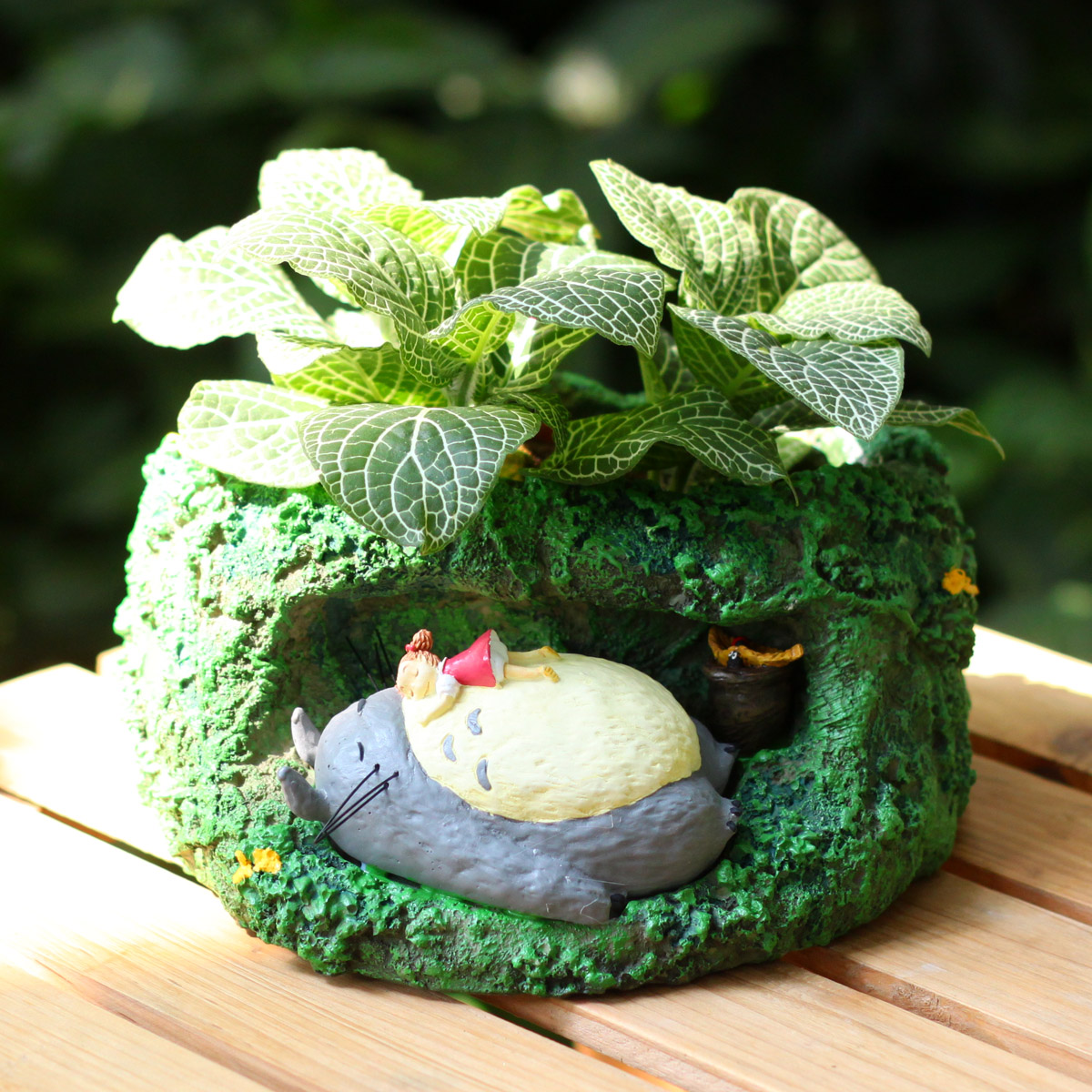 The original Totoro hayao miyazaki film real scene Tree holes to sleep totoro millet doll furnishing articles flowerpot  doll<br><br>Aliexpress