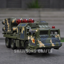 Diecast Metal Military Truck Model Toys Pull Back Missile Launcher Vehicle w/ Sound & Light(China)