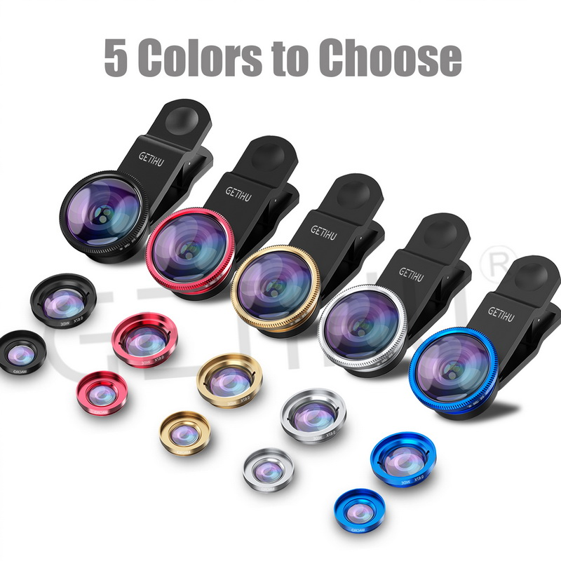 Universal 3 in 1 Wide Angle Macro Fisheye Lens Camera Mobile Phone Lenses Fish Eye Lentes For iPhone 6 7 Smartphone Microscope 10