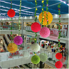 45cm Big High quality artificial rose flower ball shop market wedding decorative flowers Express Free Shipping A2180(China)