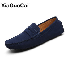 Buy 2018 Spring Fashion Men's Casual Shoes Leather Men Loafers Doug Shoes Breathable Slip-On Moccasins Flats Mens Footwear Plus Size for $23.14 in AliExpress store